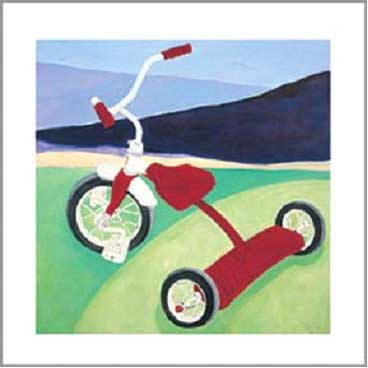 21668 Red Tricycle 12 x 12