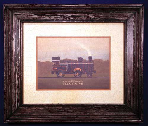 AL-04006 Locomotive (black crackle finish) 26 x 22