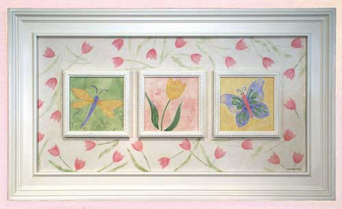AL-21098 Spring Fling - three panels 43 x 25