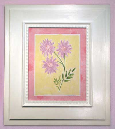 AL-21399 Sunshine Flowers I (Pink Border) 29 x 33