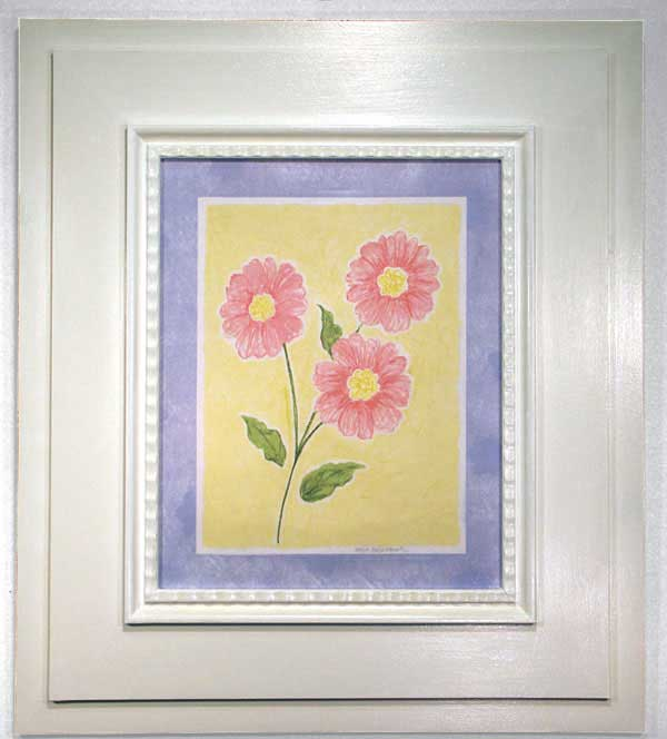 AL-21401 Sunshine Flowers III (Blue Border) 29 x 33