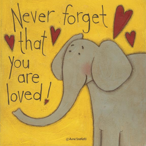 07053 Never Forget (Elephant) 12 x 12