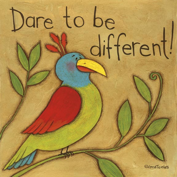 07057 Dare to be Different (Bird) 12 x 12