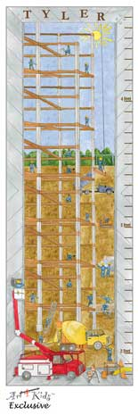 21307 Construction Site Growth Chart (Name) 12 x 36