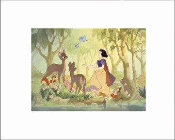 08144 Snow White and Animals 20 x 16