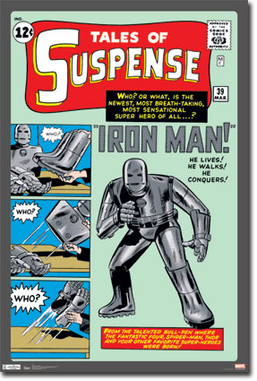 10099 Iron Man   Vintage Cover 24 x 36