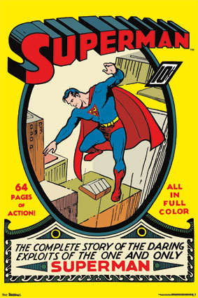 10100 Superman  #1   Vintage Cover 24 x 36