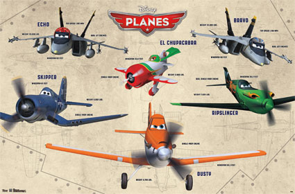10104 Disney Planes   Group 34 x 34