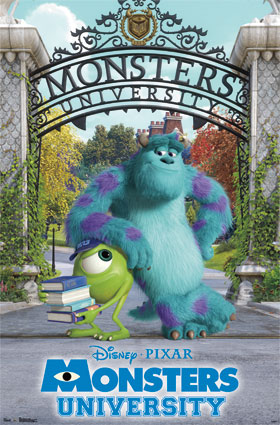 10106 Monsters U   Campus 34 x 34