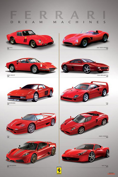 47025 Ferrari Dream Machines 24 x 24