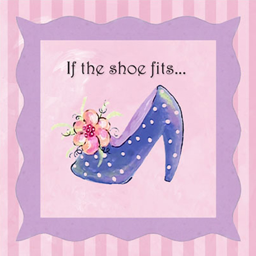 65141 If The Shoe Fits (stripe) 8 x 8