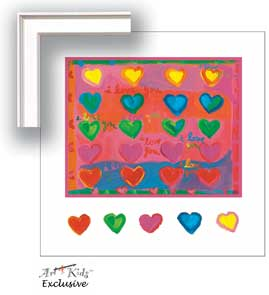 21156 I Love You - Hearts 18 x 18