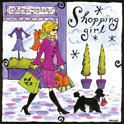 44034 Shopping Girl 10 x 10