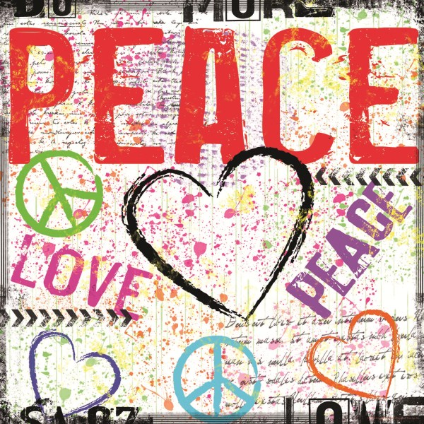 65117 Peace - Red 12 x 12