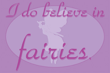 21681 I Believe In Fairies - purple 18 x 12
