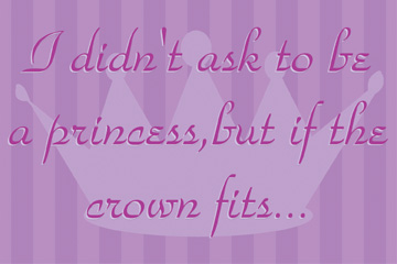 21687 If The Crown Fits - purple 18 x 12