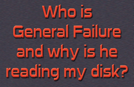 21710 Who Is General Failure 9 x 6