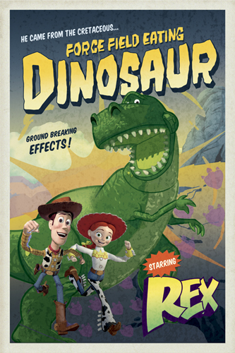 08403 Toy Story 3 - Force Field Eating Dinosaur 16 x 24