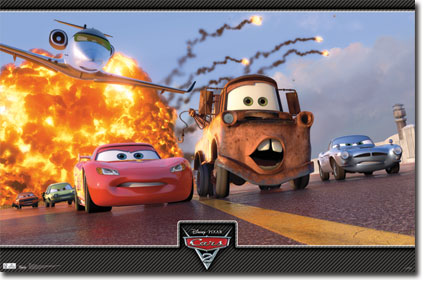 10073 Cars 2 - Action Trio 34 x 23