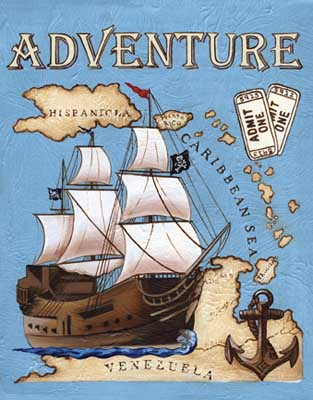 44076 Adventure (Pirate Ship) 11 x 14