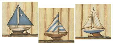 65045 Sailboat COLLECTION 8 x 8