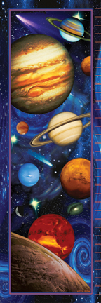 21618 Outer Space Growth Chart 12 x 36