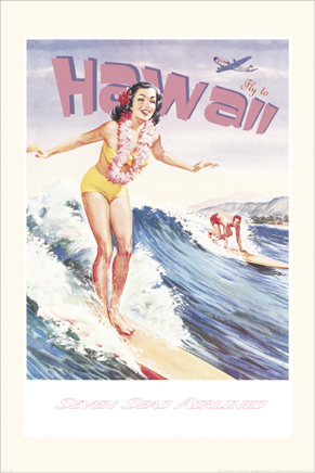 37051 Fly To Hawaii 24 x 36