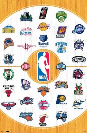 10013 NBA Logos 23 x 35