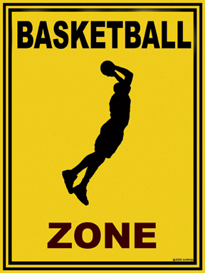 21605 Basketball Zone 18 x 24