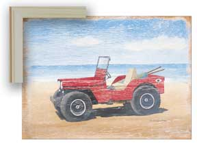 04027 Red Beach Buggy 14 x 11