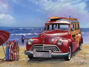 65028 Surfin USA (red woody) 16 x 12
