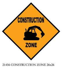 21456 CONSTRUCTION ZONE 26 x 26