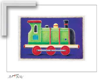 25039 Green Steam Engine 12 x 16