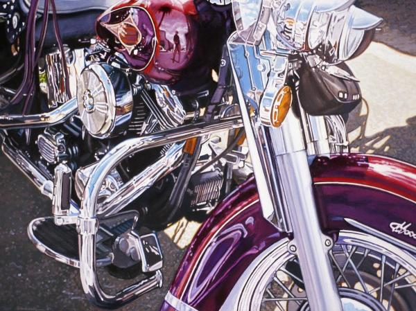 44111 Purple Harley 32 x 24