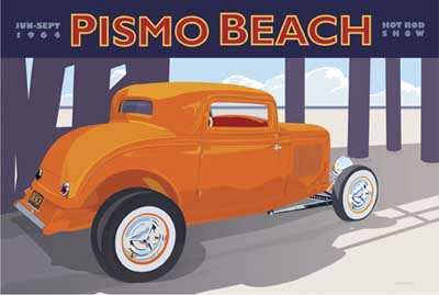 44095 Pismo Beach  (orange car) 18 x 12