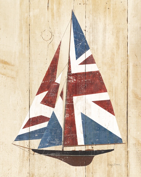 54099 British Flag Sailboat 16 x 20