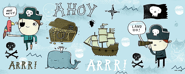 54111 Ahoy Matey I (treasure chest) 20 x 8