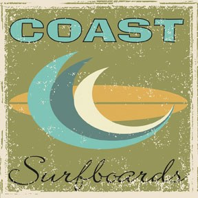 65106 Coast Surfboards 12 x 12