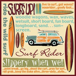 65109 Surfs Up Surf Rider 12 x 12